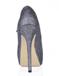 Sparkling Glitter Stiletto Heel Pumps Platform Closed Toe With Buckle shoes (085016540)