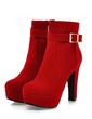 Süet Kalın Topuk Ayak bileği Boots Ile Toka ayakkabı (088057327)
