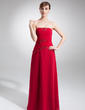 A-Line/Princess Strapless Floor-Length Chiffon Mother of the Bride Dress With Lace Beading Sequins (008006386)