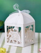 Lovely Elephant Cuboid Favor Boxes With Ribbons (Set of 12) (050032977)