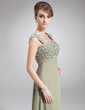Empire Square Neckline Floor-Length Chiffon Mother of the Bride Dress With Beading Sequins (008006233)