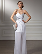 Sheath/Column Sweetheart Asymmetrical Chiffon Prom Dress With Ruffle Beading (018022506)