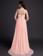 Empire Sweetheart Sweep Train Chiffon Chiffon Maternity Bridesmaid Dress With Ruffle (045022489)