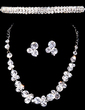 Shining Alloy/Crystal Ladies' Jewelry Sets (011028505)