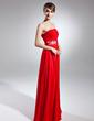 Çan/Prenses Askısız Uzun Etekli Chiffon Gelin Annesi Elbisesi Ile Büzgü Pullarda (008015656)