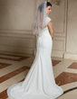 Two-tier Elbow Bridal Veils With Beaded Edge (006024468)