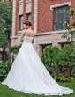 Balowa Bez ramiączek Tren Katedralny Organza Satin Suknia Ślubna (002001307)