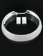 Shining Alloy/Rhinestones Ladies' Jewelry Sets (011028971)