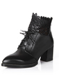 Real Leather Chunky Heel Ankle Boots shoes (088054830)