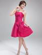 Çan/Prenses Diz Hizası Taffeta Mezunlar Gecesi Elbisesi (022010543)