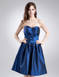 A-Line/Princess Sweetheart Knee-Length Taffeta Homecoming Dress With Ruffle (022009150)