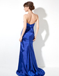 Trumpet/Mermaid Sweetheart Sweep Train Charmeuse Evening Dress With Ruffle Beading Sequins (017020661)