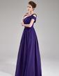 A-Line/Princess One-Shoulder Floor-Length Chiffon Evening Dress With Ruffle (017039546)
