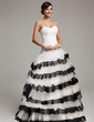 Ball-Gown Sweetheart Sweep Train Tulle Quinceanera Dress With Lace Cascading Ruffles (021017544)