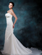 Trumpet/Mermaid Sweetheart Chapel Train Organza Wedding Dress With Ruffle Beading (002004773)