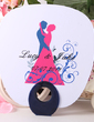 Personalized Bride And Groom Plastic Hand Fans (118029525)