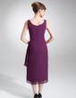 Wąska Kwadratowy Dekolt Do Podłogi Chiffon Suknia dla Mamy Panny Młodej (008006001)
