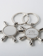 Personalized Rudder Zinc Alloy Keychains (Set of 4) (051028916)