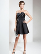 A-Line/Princess Scalloped Neck Short/Mini Satin Cocktail Dress With Ruffle Beading (016008657)