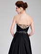 A-Line/Princess Sweetheart Asymmetrical Taffeta Prom Dress With Beading (018018866)