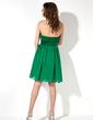 Empire Sweetheart Knee-Length Chiffon Satin Homecoming Dress (022021044)
