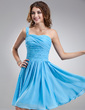 A-Line/Princess One-Shoulder Knee-Length Chiffon Homecoming Dress With Ruffle (022020773)
