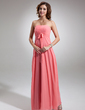 Empire Strapless Floor-Length Chiffon Bridesmaid Dress With Ruffle Bow(s) (007016767)