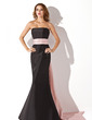 Trumpet/Mermaid Strapless Floor-length Taffeta Bridesmaid Dress With Sash (007004268)
