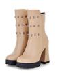 Suni deri Kalın Topuk Ayak bileği Boots ayakkabı (088056354)