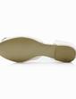 Frauen Seide wie Satin Flascher Absatz Geschlossene Zehe Flache Schuhe mit Strass (047031352)
