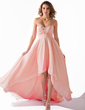 Empire Sweetheart Asymmetrical Chiffon Prom Dress With Ruffle Beading Sequins (018020806)