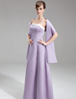 A-Line/Princess Strapless Floor-Length Satin Bridesmaid Dress With Sash (007000992)
