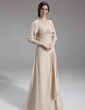 A-Line/Princess Strapless Floor-Length Chiffon Mother of the Bride Dress With Beading Cascading Ruffles (008006286)