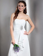 A-Line/Princess Sweetheart Floor-Length Chiffon Wedding Dress With Beading Cascading Ruffles (002013765)