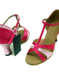 Women's Satin Sparkling Glitter Sandals Latin With T-Strap Dance Shoes (053008917)