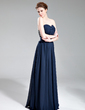 A-Line/Princess Sweetheart Floor-Length Chiffon Evening Dress With Ruffle Beading (017019741)