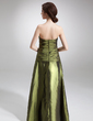 A-Line/Princess Strapless Floor-Length Taffeta Evening Dress With Ruffle Beading Sequins (017020988)
