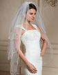 Three-tier Fingertip Bridal Veils With Scalloped Edge (006024471)