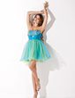 Empire Sweetheart Short/Mini Tulle Homecoming Dress With Ruffle Beading Sequins (022010551)