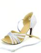 Kadın Satin Suni deri Topuk Sandalet Latin Ile Ayakkabı Askısı Dans Ayakkabıları (053057160)