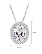 High Quality Zircon/Platinum Plated Necklaces (011057260)