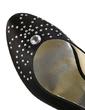 Women's Satin Cone Heel Closed Toe Pumps With Rhinestone (047029179)