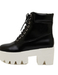 Leatherette Chunky Heel Platform Ankle Boots shoes (088055317)