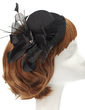 Elegant Artificial Silk/Feather Fascinators With Crystal (042057226)