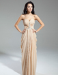 Sheath/Column Sweetheart Floor-Length Chiffon Evening Dress With Ruffle Beading (017014904)