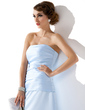 Sheath/Column Sweetheart Floor-Length Satin Bridesmaid Dress With Ruffle (007004267)