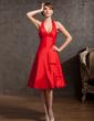 Çan/Prenses Yular Diz Hizası Taffeta Mezunlar Gecesi Elbisesi (022014892)