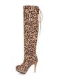 Süet İnce Topuk Diz Yüksek Boots ayakkabı (088057238)