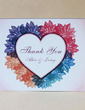 Personalized Heart design Hard Card Paper Thank You Cards (Set of 50) (118029373)