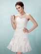 A-Line/Princess Sweetheart Short/Mini Taffeta Homecoming Dress With Ruffle Beading (022009131)